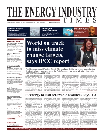 Selected highlights from the November 2018 edition of The Energy Industry Times